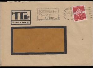 """Werbestempel """"Deutsch ist die Saar ..."""" Fenster-Brief SAARBRÜCKEN 10.5.1935"""