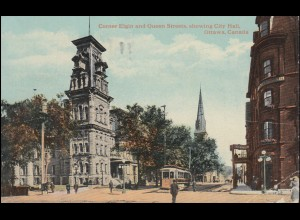 Kanada-AK Ottawa Corner Elgin and Queen Streets showing City Hall, 5.10.1920
