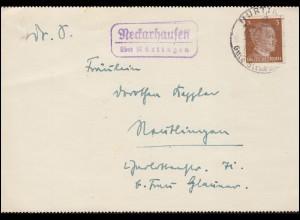 Feldpost BS Reserve-Lazarett St. Wendel Brief ST. WENDEL (SAAR) 25.3.1942