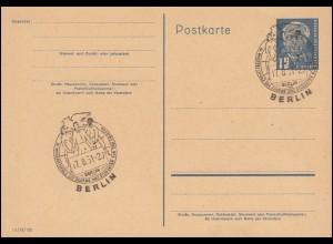 123 Posthorn-Paar 2 Pf. MeF DS Honig Bienen HAMBURG-LOKSTEDT 2 a - 28.10.53