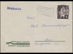 198 Gutenberg-Bibel EF Orts-Drucksache Stoffe und Wäsche FRANKFURT/MAIN 12.5.54
