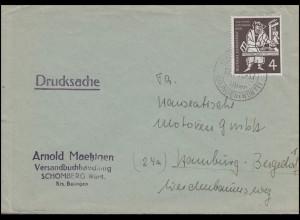 198 Gutenberg-Bibel EF Drucksache SCHÖMNERG-BALINGEN (WÜRTT) 7.5.54 nach Hamburg