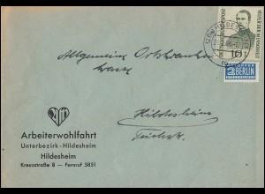 Block 11 Friedensnobelpreisträger mit Satz aus Bl.11 auf Eil-Brief HERNE 3.1.76