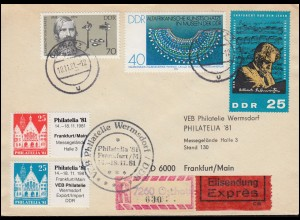 1415 Weltausstellung Literatur IPHLA'89 - Schmuck-FDC ESSt Frankfurt 20.4.1989