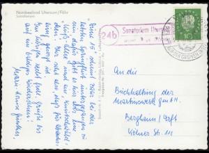 Scherenschnitt-AK Ostergrüsse Zwerg mit Hasengespann, GROSS RUSSBACH 20.4.1935