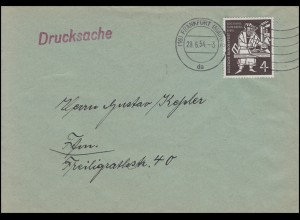 198 Gutenberg-Bibel 4 Pf. EF Orts-Drucksache FRANKFURT / MAIN 2 da - 28.6.54