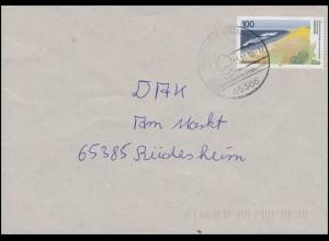 1871 Boddenlandschaft 100 Pf. Küste EF Brief SSt Geisenheim Lindenstadt 13.11.96