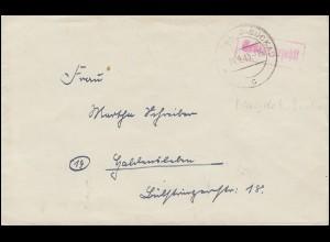 Gebühr-bezahlt-Stempel auf Brief MAGDEBURG-BUCKAU 14.9.1945