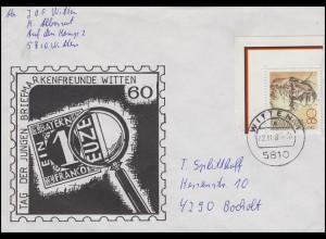 1158 Heinemann aus Bl.18 EF Bf Witten 22.11.82 mit 8-Strich-Codierung + Nr. 0/1