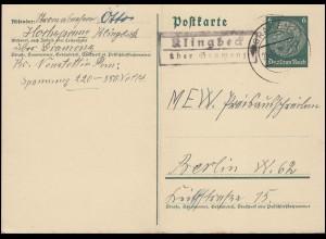 Hindenburg-Einheitsgeberstreifen EG 3 mit Rand, Vorlage SSt BAD GRIESBACH 1943