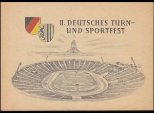 DDR 530-533 Turn- und Sportfest Leipzig 1956 in Klappkarte SSt LEIPZIG 2.8.56