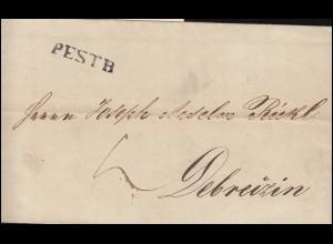 Ungarn Vorphilatelie Brief aus PESTH vom 31.3.1845 nach DEBREZIN