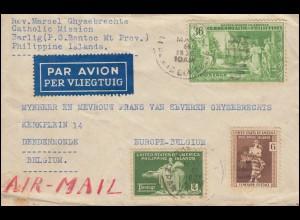 Philippinen - Amerikanische Besatzung: 359+360+375 Gemälde Brief BONTOC 6.5.1936
