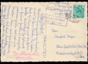435-438 Attentat 20. Juli 1944 im Blockunterteil auf Brief SAARBRÜCKEN 21.7.64