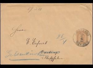 Österreich Streifband S 5 Kaiser Franz Joseph 5 Kreuzer FRIEDLAND BÖHMEN 25.4.96