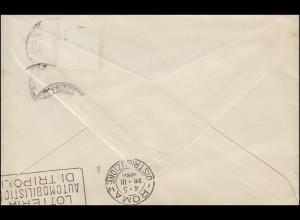 Brief von ST. INGBERT 24.3.38 nach Rom mit Ankunftstempel Automobil-Lotterie