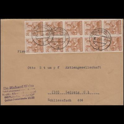 Absenderfreistempel 24 Pf. LEIPZIG Otto Stumpf 11.4.49 nach Dresden Pharmazie