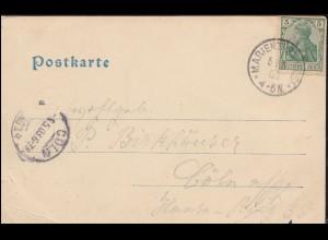 Aptierter Absenderfreistempel FREIBURG (BREISGAU) 31.10.45 Brief nach Koblenz
