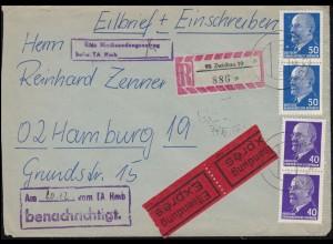 Zensur Geprüft Kdtr. des Gefangenenlagers Heilsberg auf Brief nach Vesoul