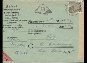 53 Berliner Bauten als EF Orts-NN-Bf. Gerichtsvollzieher BERLIN-LANKWITZ 11.7.56