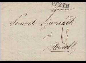 Ungarn Vorphilatelie handgeschr. Rechnung von PESTH 15.11.1846 nach NEUSOHL