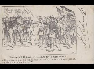 AK Demonstration / Revolution, AMSTERDAM 8.6.1903 nach Frankreich