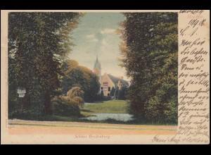 Ansichtskarte Schloss Breitenburg, ITZEHOE 11.9.1906 nach LÜBECK 11.9.06