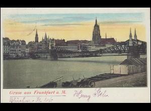 Ansichtskarte Frankfurt/Main Panorama 29.8.1902 nach PIERREFONDS / OISE 30.8.02