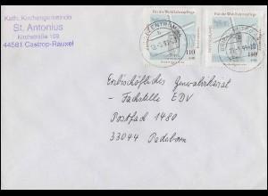 1950 Wofa Niederrheinische Bockwindmühle Bedarfsbrief MeF Brief BZ 44 - 18.5.98