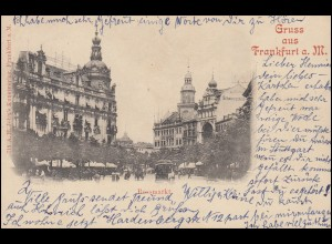Ansichtskarte Rossmarkt FRANKFURT/MAIN 20.10.1904 nach STUTTGART Nr. 1- 21.10.04