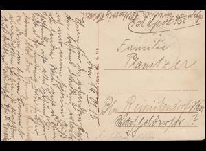 DEUTSCHE MARINE-SCHIFFSPOST SMS Schleswig-Holstein 19.6.1915 auf AK SMS Blücher