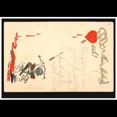 Englisches Postamt auf Helgoland: HELIGOLAND 10.12.1885, Postkarte nach ALTONA