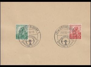 106-107 Radrennen-Satz auf Vorlage mit SSt DÜSSELDORF Funkausstellung 20.8.1950