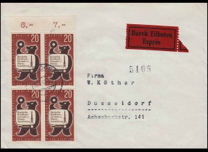 Condor Zeppelin Lufthansa Brasil-Europa Lp.-Brief SAO PAULO 7.9.35 nach Berlin