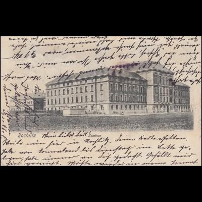 AK Seminar, ROCHLITZ (SACHSEN) 29.10.1904 nach ANNABERG (ERZGEB.) 29.10.