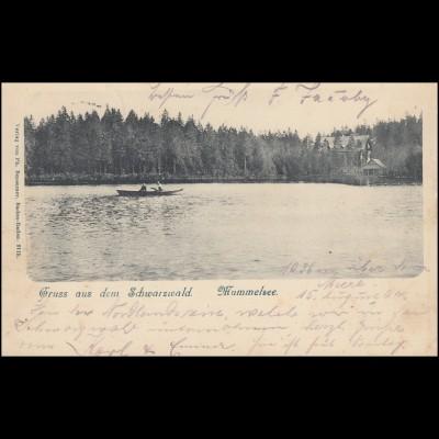 AK Gruss aus dem Schwarzwald: Hummelsee, SEEBACH 15.8.1904 nach SIEBENLEHN 17.8.