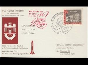 Firmenlochung AME auf Posthorn-Marken 5+20 Mark MiF auf Brief BERLIN 18.12.22