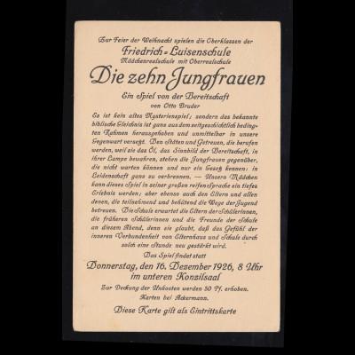 Feldpost auf Propaganda-Ansichtskarte, KÖNIGL. RESEVELAZARETT ST. WEDEL 22.10.15