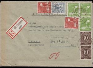 Kontrollrat I+II MiF R-Orts-Bf. Not-R-Zettel ESSEN 10.6.1948 an das Wohnungsamt