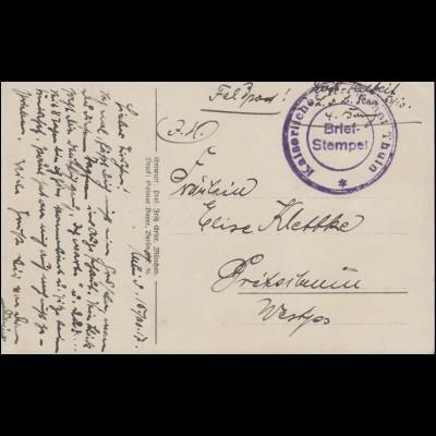 Feldpost AK Militaria Und Ihr? Zeichnet Kriegsanleihe, Briefstempel Thuin 1927