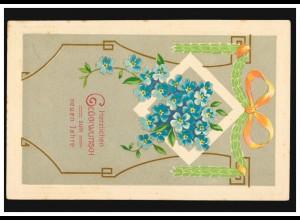 Rußland Postkarte P 9 mit Zusatzfr. aus REVAL 24.6.10 nach Engelhohn, Mängel