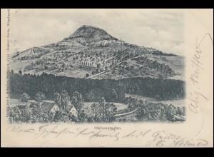 AK Berg Hohenstaufen, Einkreisstempel HOHENSTAUFEN 1.6.03 nach MITTELSTADT 2.6.