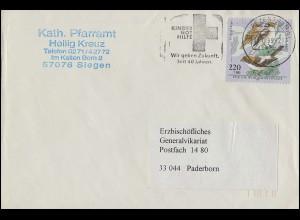 2019 Wofa Vogelarten Rotkopfwürger EF Brief Werbe-O Kinder in Not BZ 57 11.11.99