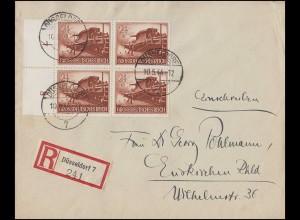 1255-1256 MOPHILA Zusammendruck 2x W Zd 5 im Rand-Vbl. R-Bf SST Hamburg 13.9.85