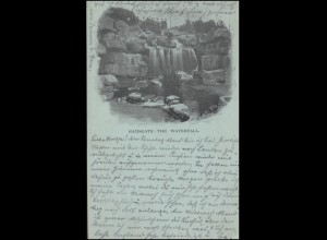 AK Ramsgate - The Waterfall, 8.8.1904 nach Lössnitz / Deutschland