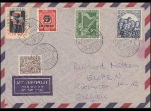 72-73 Philharmonie mit ZF auf Aerogramm SSt KIEL 1 KIELER WOCHE 20.6.1951