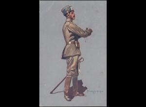 Rotes Kreuz AK Husaren-Stabsoffizier als Marinefeldpost von PADERBORN 18.4.1916