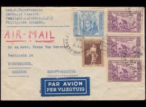 Philippinen - Amerikanische Besatzung: 360+376+387 Gemälde Brief BONTOC 20.5.37