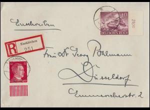 Zensurpost 91Germania 50 Pf. als EF R-Brief LÖRRACH 13.11.17 nach Groningen