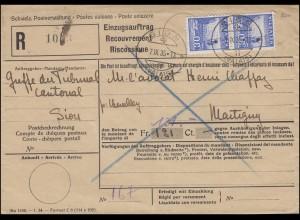 276 Rheinfall bei Schaffhausen MeF auf Einzugsauftrag SION / VALAIS 7.9.1935